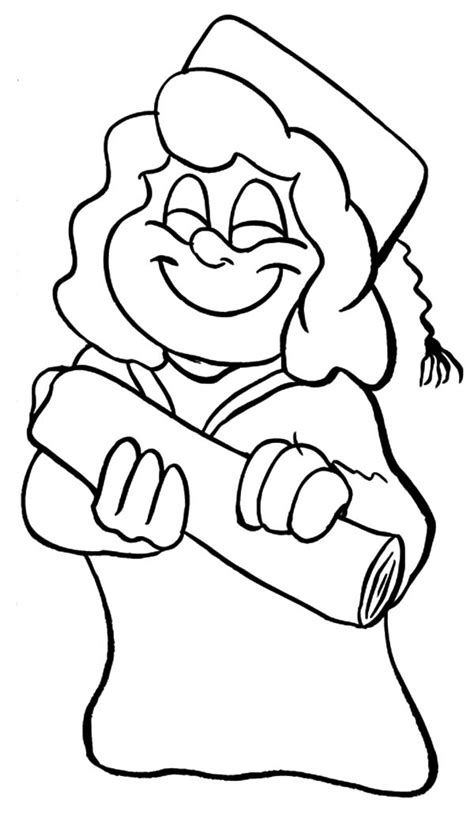 graduation girl coloring page graduation coloring pages printable to free download