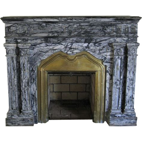antique marble fireplace surround from blacktulip on ruby