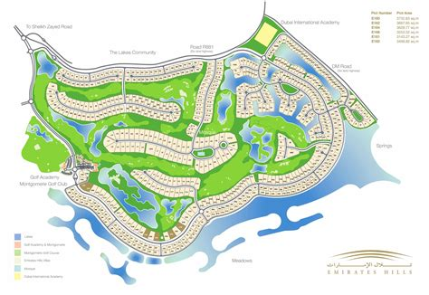 Villa Designs And Floor Plans by Emirates Hills Master Plan Dubai Emirates Hills Villas