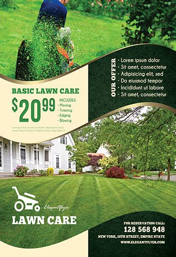 Lawn Mowing Advertising Flyers lawn care free flyer psd template by elegantflyer