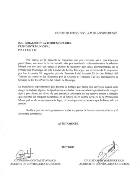 carta de trabajo mexico adi 243 s obligan a trabajadores a firmar su renuncia