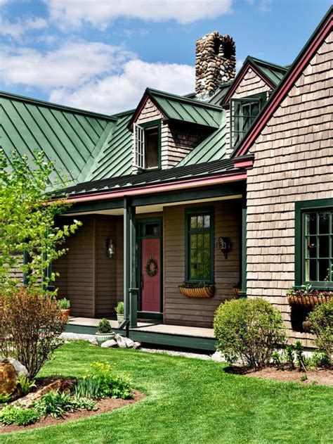 green metal roof home design ideas pictures remodel and decor