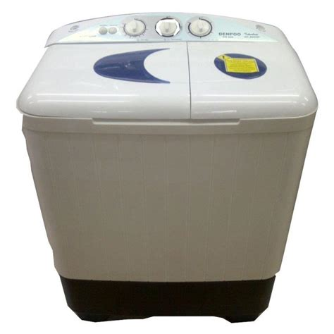 Mesin Cuci 1 Tabung Pengering jual mesin cuci denpoo 2 tabung dw828 harga murah jakarta oleh mega elektronik