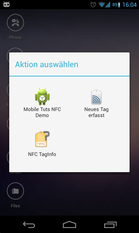 android intent filter reading nfc tags with android