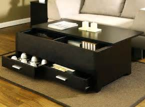 black coffee table with storage