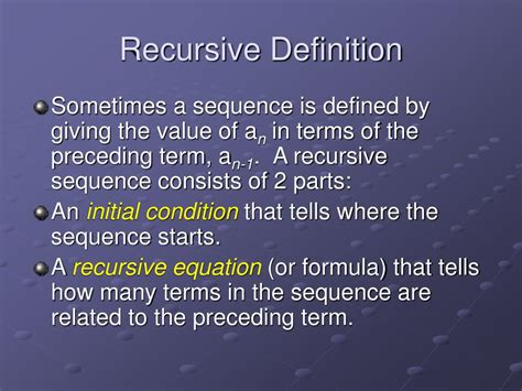 recursive pattern meaning ppt sequences summation notation 8 1 powerpoint