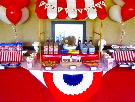 baseball theme decorations table on dessert tables buffet