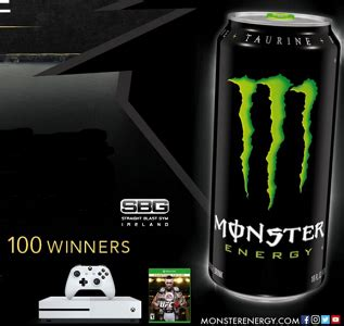 Monster Energy Giveaway - monster energy xbox gaming console giveaway