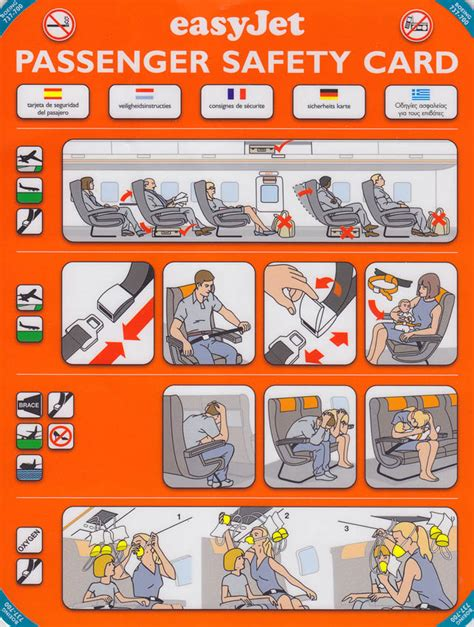 Collection Of Airline Safety Cards by E Es