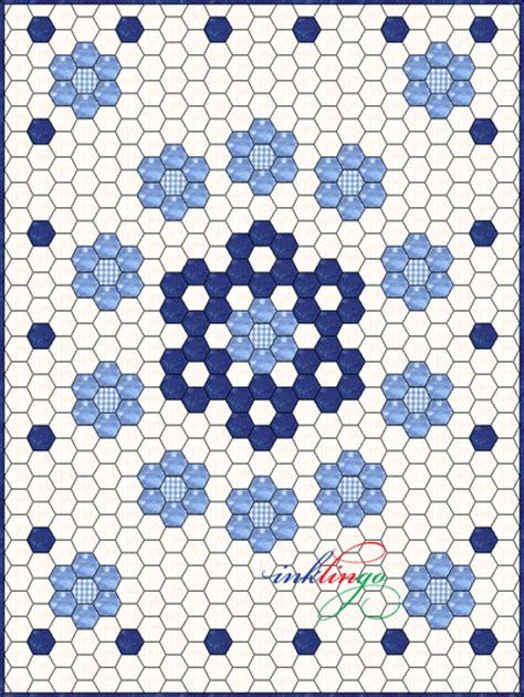 quilt pattern hexagon inklingo hexagon quilt design snowflake center hmm