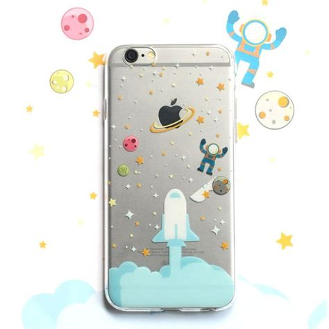 Softcase Simple The Astrounut Iphone 6 6s 7 7 8 8 rocket launching planet space astronaut soft for iphone 5 5s 6 6s 6 plus astronauts