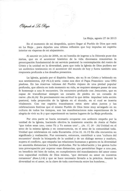 carta de despedida carta de despedida monse 241 or rodr 237 guez