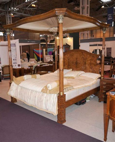 regency walnut size four poster bed bedroom furniture