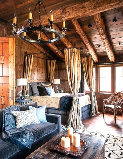 log cabin bedroom mountain rustic bedrooms cabin fever this or that
