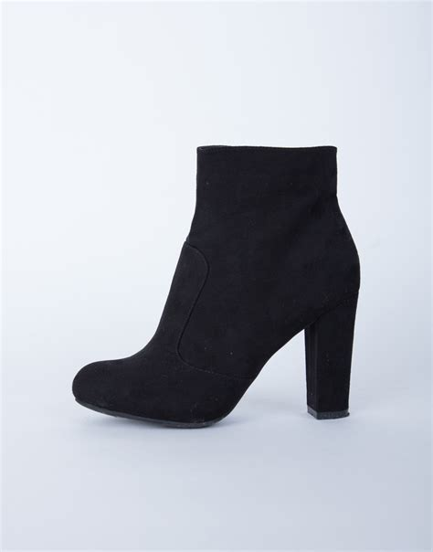 suede chunky heel boots black suede boots black chunky