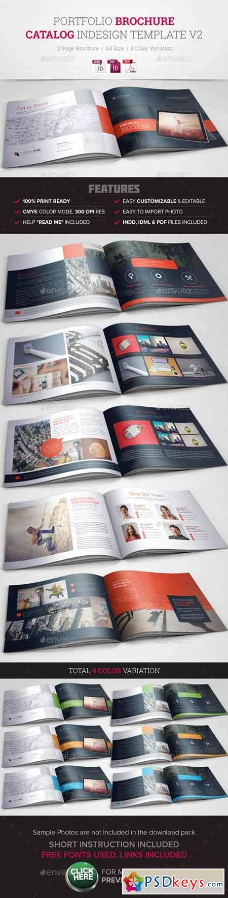 Portfolio Brochure Indesign Template V2 10491396 187 Free Download Photoshop Vector Stock Image Graphic Design Portfolio Template Indesign