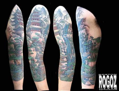 japanese tattoo boston blue foodog and peony by boston rogoz tattoonow