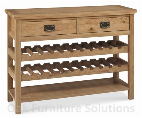 Provence Oak Console Table with Wine Rack   Oak Furniture
