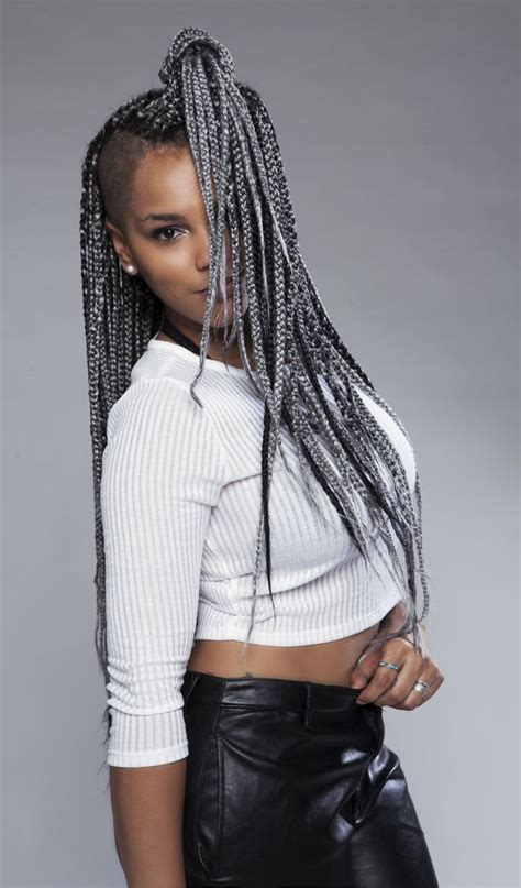 grey braids grey box braids by codi sky hair pinterest grey