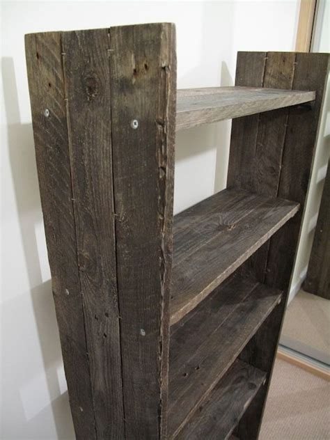 diy rustic bookcase house