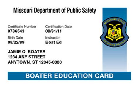 missouri boating license fee missouri boating license boat safety course boat ed 174