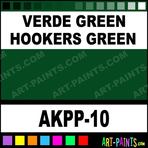 verde green hookers green opaque watercolor paints akpp 10 verde green hookers green paint