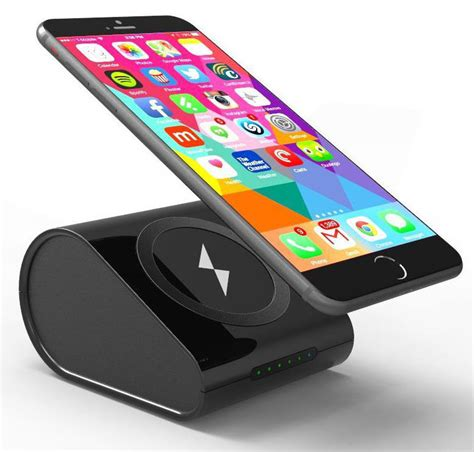 wireless cell phone charger pad black qi wireless charger pad stand 10400mah portable