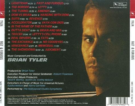 fast and furious soundtrack list fast furious original motion picture score brian