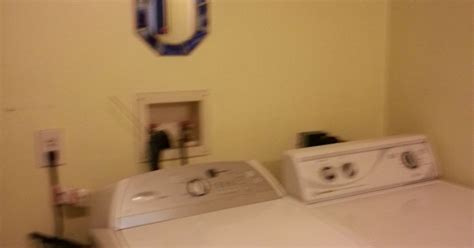 washer dryer outlet box cover washer and dryer hookups installation optional stackable washer need ideas on what to put on maller bathroom walls hometalk