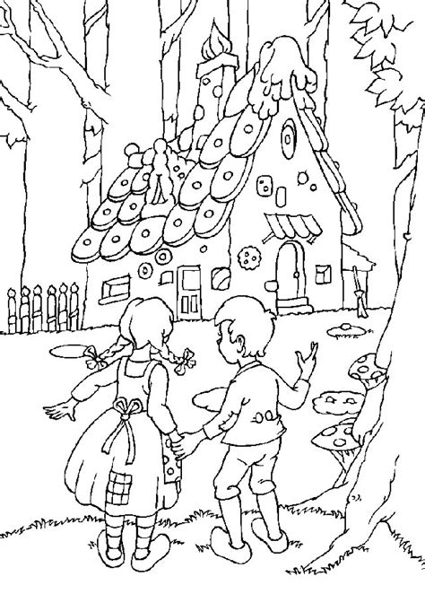 Hansel And Gretel Coloring sketch template