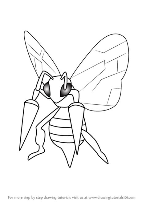 pokemon coloring pages beedrill learn how to draw beedrill from pokemon go pokemon go