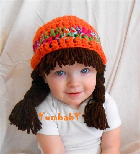 cabbage patch hats to knit cabbage patch wig halloween costume for kids hippie