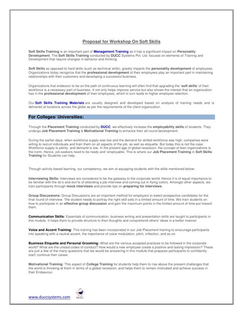 Soft Skills Syllabus Mba by Soft Skills Pattern And Syllabus Ducc Systems