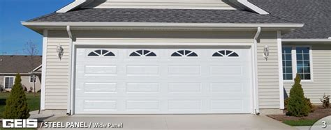Wide Garage Door by Wide Panel Steel Panel Geis Garage Doors Milwaukee