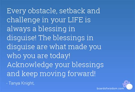 obstacle setback  challenge   life    blessing  disguise