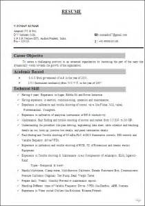 Instrumentation And Engineer Sle Resume by Instrumentation Engineer Resume Format Resume Format
