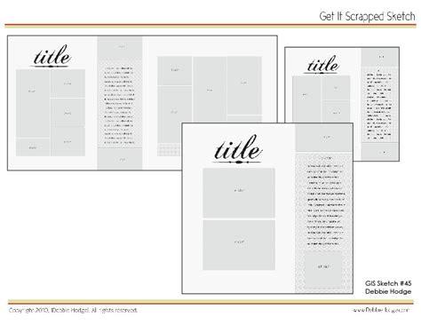 scrapbook page sketch and template bundle april 16 2010