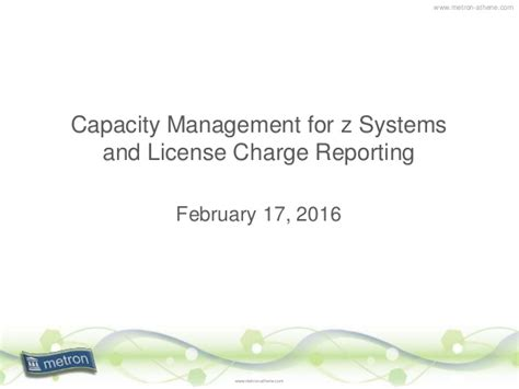a z of capacity management practical guide for implementing enterprise it monitoring capacity planning books capacity management for system z license charge reporting