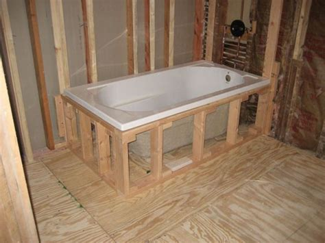 how to fit a bathtub in a small bathroom drop in bathtub installation random stuff pinterest
