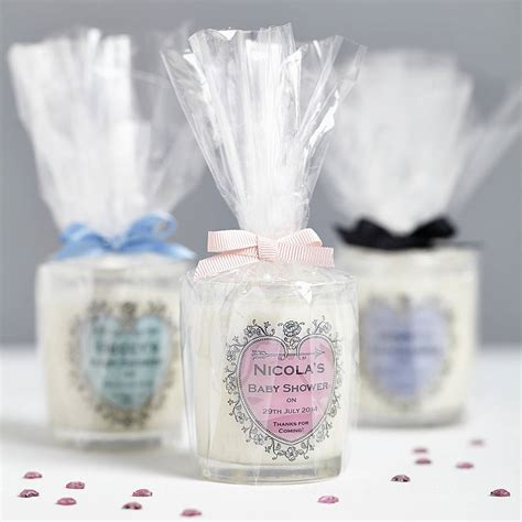 Baby Shower Favors Uk by Baby Shower Personalised Candle Favours By Hearth