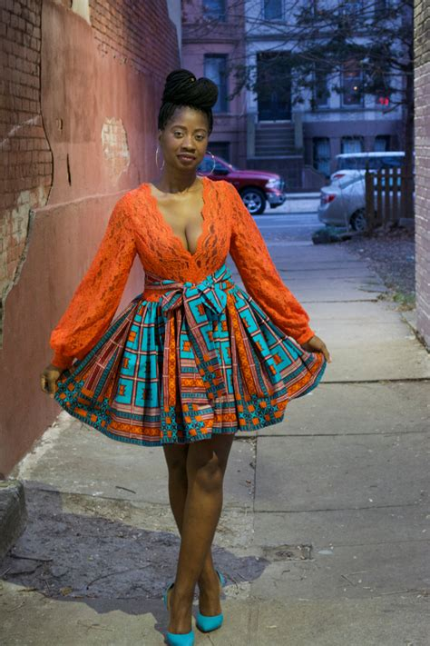 ankara african dress with lace african dress ankara dress african print lace bodice