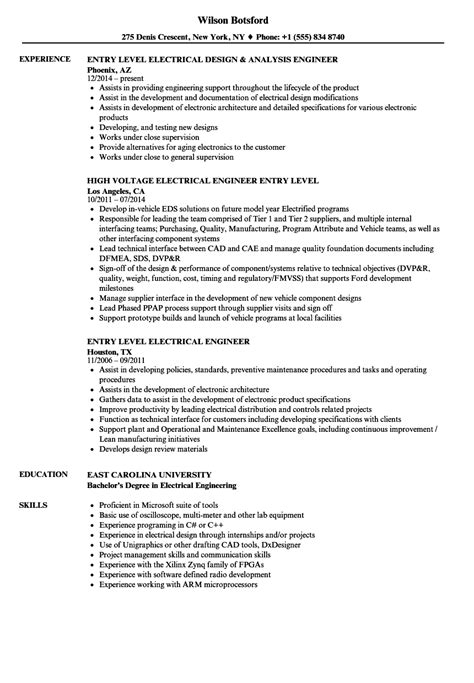 design engineer entry level jobs electrical engineer resume exles electrical engineer