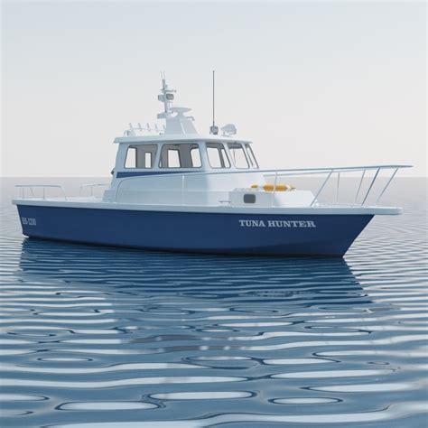 fishing boat motor 3d model sea fishing motor boat