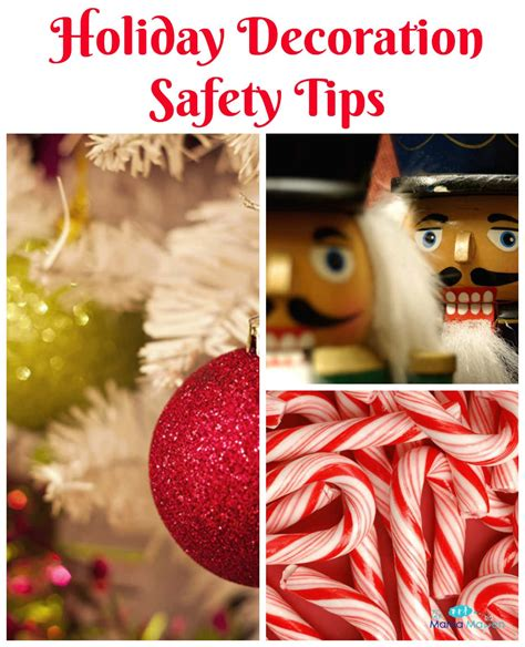 decoration safety back away from the decoration safety tips