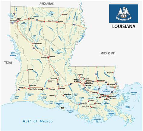 map  louisiana guide   world
