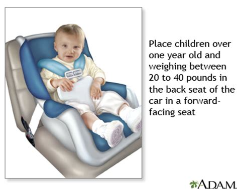 when should car seat be front facing child safety seats medlineplus encyclopedia