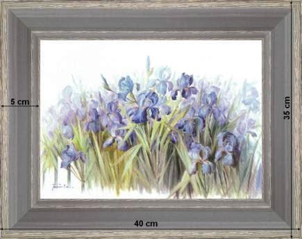 Les Plus Beaux Jardins 1659 by Brass 233 E D Iris Tableau Deco Fleurs
