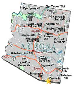 arizona state park map maps coronado national memorial u s national park service