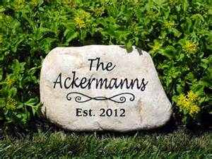 Engraved Garden Rocks Personalized Memorial Garden Stones And Engraved River Rock Garden Stones