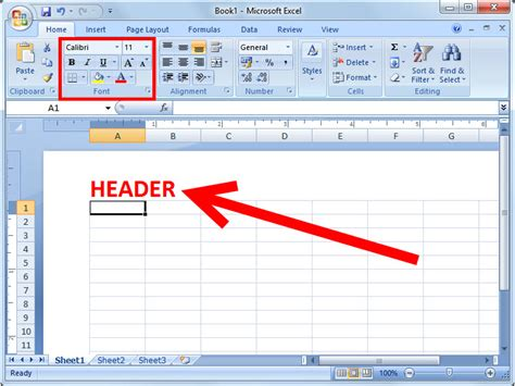 wood header design exle how to add a header or footer in excel 2007 6 steps